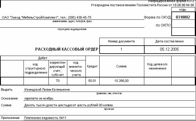 Отчет документы работа с кассой открыть магазин