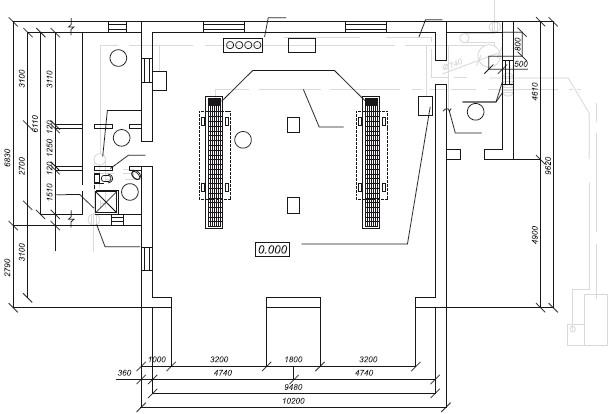 План-схема здания мойки на два