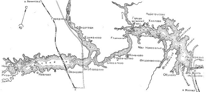 Схема водохранилища «