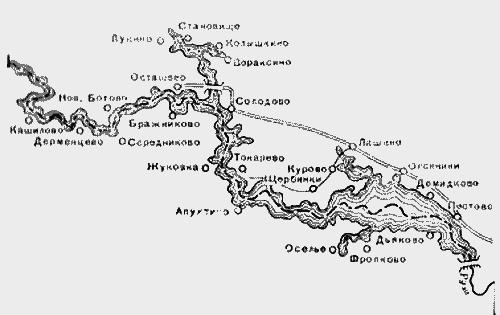 Схема Рузского водохранилища