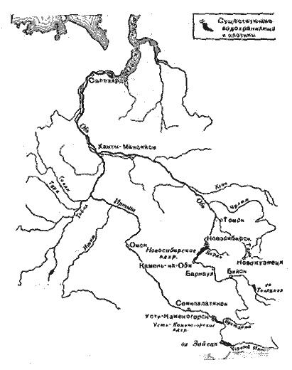 р обь карта: