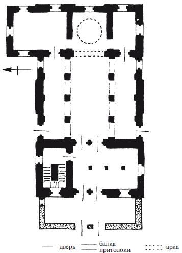 план монастырского храма в