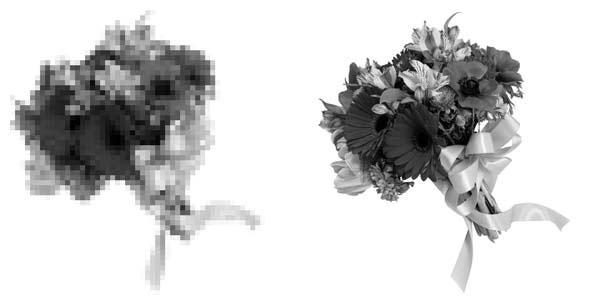 размер растрового изображения: