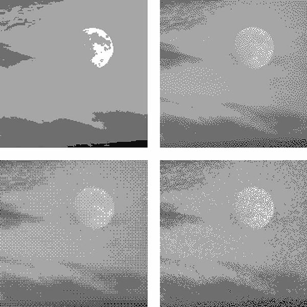 Алгоритмов dithering смешивание цветов и