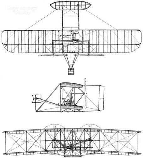 "Схема самолета ""Флайер"""
