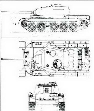 Внешний вид танка Т-44 по