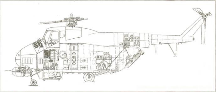 Компоновочная схема вертолета