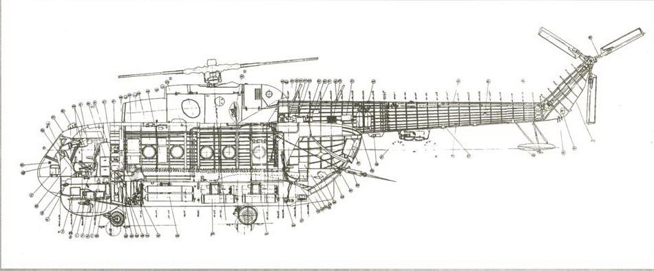 Компоновочная схема вертолета. «